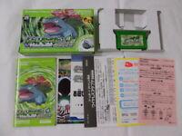 Y2464 Nintendo Gameboy Advance Pokemon Leaf Green Japan GBA w/wireless adapter