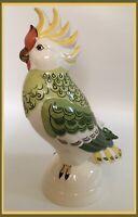 "Goebel Cockatoo - Gold Beak - Gorgeous Detail - 11"" Tall - Made In W. Germany"