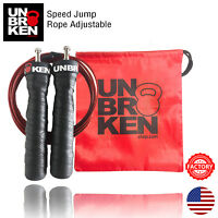 Crossfit Speed Jump Rope adjustable wire skipping exercise double under cardio