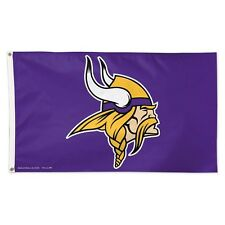 NFL: Minnesota Vikings Premium Fabric Deluxe Flag 3' x 5' with Grommets