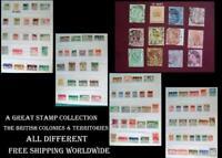 Stamp Collection British Colonies Victoria Straits Settlements S. Australia Fiji