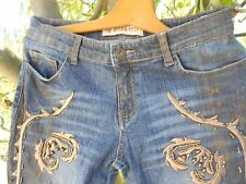 RARE JEAN ROSA & ROSE T 36 BRODERIES SUPERBES A 45€ ACH IMM FP RED MOND RELAY