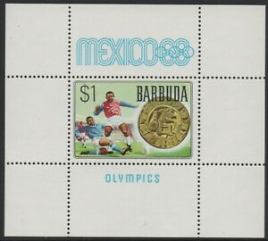 Barbuda 1968 Olympic Games in Mexico Mini Sheet MUH