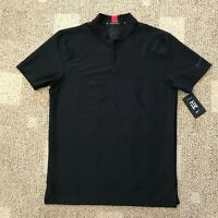 Nike Dry Mens Tiger Woods TW Short Sleeve Polo Golf Shirt Black Size Medium