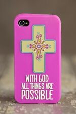 Natural Life God Religious iPhone 4s 4 Cell Phone Case Cover Rubber Gel Skin