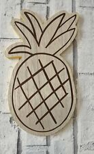 Small Wooden Pineapple Tray Plaque 7 X 12