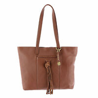 NWT Lucky Brand Carmen Tote Bag Brandy Color Leather $198