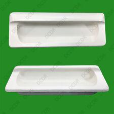 8 x en bois blanc encastré anse 110mm Armoire Garde-Robe cuisine Bouton de porte