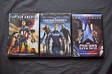 Captain America Trilogy 1,2,3 All Movies Collection Bundle Marvel Combo New DVD