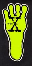 X-FILES PROMOTIONAL ALIEN FOOT STICKER