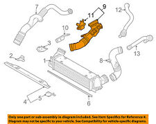 BMW OEM 07-10 335i 3.0L Intercooler-Air Intake Duct Hose Tube Left 13717590306