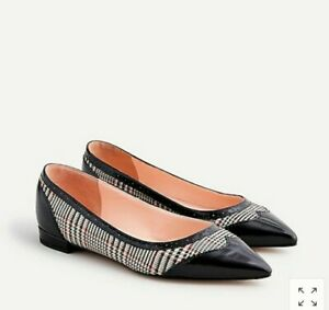 NWB J.Crew Pointed-Toe Leather Spectator Flats Sz 8