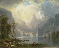 Albert Bierstadt In the Sierras Giclee Canvas Print Paintings Poster Reproductio