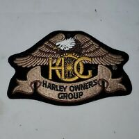 "Harley Owners Group HOG embroidered patch 4.75"" x 3"""