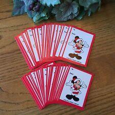 50 Large Mickey Mouse Santa Christmas Gift Tags Disney Hallmark