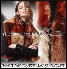 Topshop Boutique Vintage 40s Ww2 Hollywood Faux Fur Patchwork Stole Cape