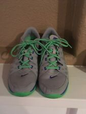 Nike Fitsole Tennis Shoes Grey & Lime Green Woman Size Us 8M Uk 5.5 Eur 39
