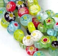 6mm Millefiori Glass Assorted Coin Tiny Beads 16