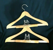 Lot 2 Vintage Wood Hangers Same Day Shipping