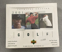 2001 Upper Deck Golf Unopened  Box One Tiger Woods 24 Pack From Sealed Case