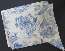 Couture Asian Chinoiserie Blue & White Toile Placemats & Napkins Set of 4