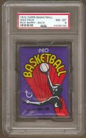 1972 Topps Basketball Unopened Wax Pack PSA 8 NM-MT Rick Barry Back Erving RC?
