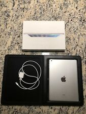Apple - iPad Air - White/Silver 9.7in - With Original Box, Wall Charger, & Case