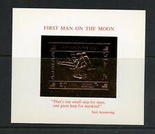 Ajman 1970 #MB186  space First Man on Moon Armstrong  GOLD FOIL sheet  MNH  M798