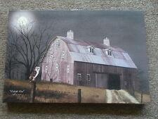 Midnight Moon Canvas Print  by Billy Jacobs Ohio Folk Artist 12 x 18