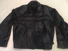 Vtg Camel Cigarette Black Bomber Biker Style Heavy Leather Jacket Men's Size XL