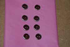 8 X 13mm Botones Borgoña