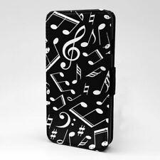 Para Teléfono Móvil Funda Libro Música Nota Patrón - S3753