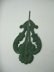 VINTAGE GREEN Metal HOOK FOR HOME OR GARDEN, HAS A SHARP POINT ON THE END