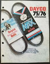 1975 - 1976 Dayco Snowmobile Belts Applications Catalog
