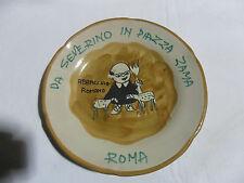 DA SEVERINO IN PIAZZA ZAMA ROMA 1978 Piatto Buon Ricordo Ceramica