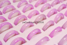 FREE Wholesale Jewelry Lots 10pcs Pink Natural Agate Gemstone stone Rings