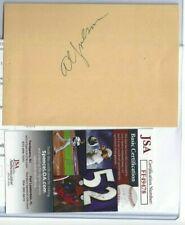 Al Jolson Autographed Vintage Album Page JSA COA Hollywood Actor Comedian