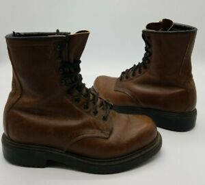 Vintage Red Wing Mens Size 6.5 D 1212 Brown Insulated Soft Toe Boots Made in USA