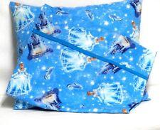 Princess Cinderella Toddler Pillow&Pillowcase on Blue Cotton #Pr31 Handmade