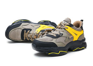 Unisex Breathable Steel Toe Safety Shoes Anti Puncture Lightweight Work Boots