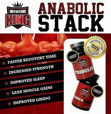 TRIBULUS and ZMA 120 Caps Natural Stack Testosterone Booster gym test boost