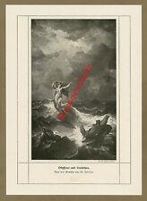 Friedrich Preller Odysseus leukothea acte Antiquité Mythologie maritimes HELLAS 1909