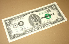 Zahltag 2 sehr selten 2 Dollar Note/Note (Fake) von Gamescom 2013 NEU