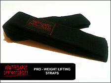 Weight Lifting Straps Bodybuilding Wrist Hand Bar Heavy Duty Power Straps Red