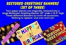 Restored Greeting Banners #3 Stage Magic Trick