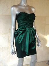 Aqua Green Gathered Drapey Cocktail Party Clubwear Prom Dress Sz 2 NWT