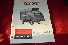 New Holland 8 Forage Wagon Crop Carrier Operator's Manual WPNH Color Cover