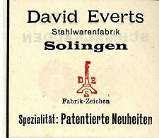 David everts Solingen acero eran patentado novedades trademark 1908