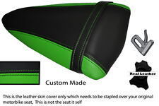 GREEN & BLACK CUSTOM FITS KAWASAKI NINJA ZX6R 07-08 PILLION SEAT COVER