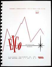 EICO 667 Tube Tester Manual plus Tube Test Data